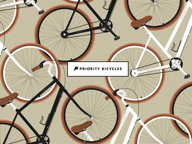 Priority Bicycles vintage bike minimal illustration bike bicycle