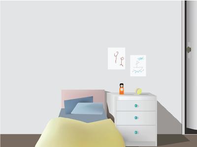 Simple Children's Room Illustration