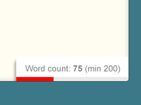 Editor UI / Word Count
