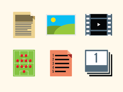 Template Icons icons article editorial writing slideshow video text top scores