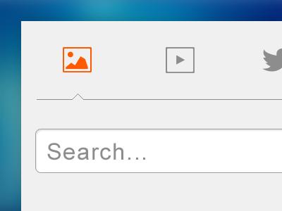 minimal tabs tabs ui ux image video tweet search