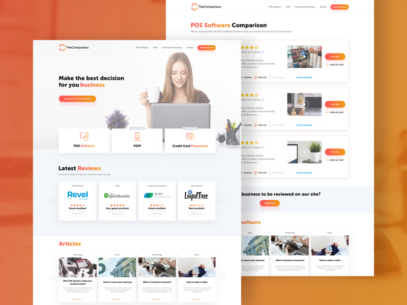 The comparisun website by mark levi dribbble web design for the comparisun a comparison service for business tools reheart Image collections