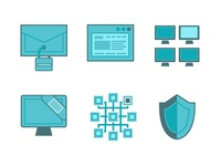 Icons for a startup in stealth mode