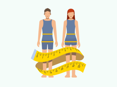 Measure waist illustration for Sweetch Health