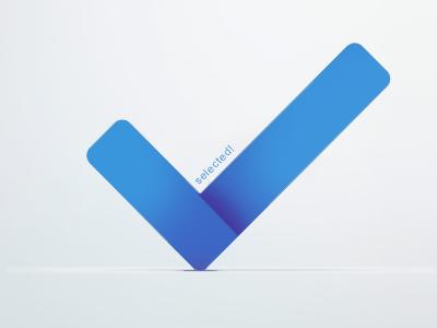 Check logo check logo blue