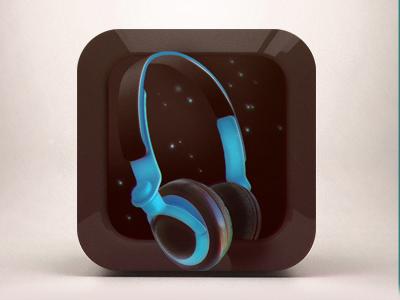 Headphone icon ios headphone icon blue black