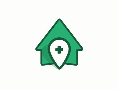 Logo house green