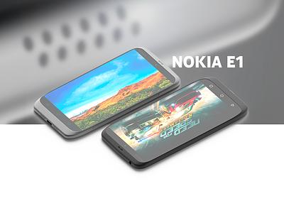 Nokia E1 nokia android phone conept 3d