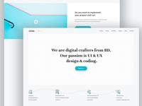 Digital Craft Agency agency branding mockup free android ios app webdesign layout landingpage ux flow ui xd psd digital agency
