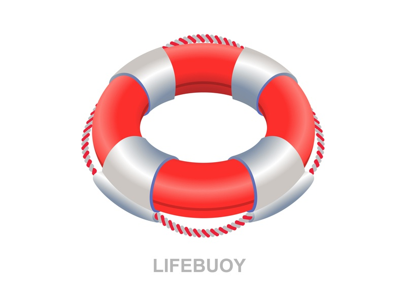 Lifebuoy red rescue 3d art isometric icon 3d graphic safety safe help sea lifeguard sos lifebuoy illustration