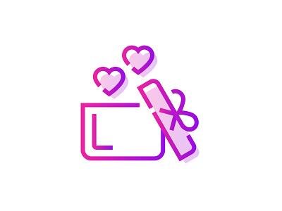 Valentines Gift 🎁💕 happy open celebration valentines day day valentines propose gift box gift present romantic love heart icon gradient art graphic design