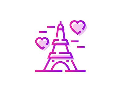 Eiffel Tower Replica 🗼💕👇 heart icon gradient art design graphic love couple romantic valentines day france paris eiffel tower tower eiffel