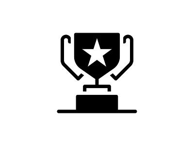 Winner Trophy 🏆👇 illustration cup trophy win winner prize reward achievement star award icon glyph vector art graphic design