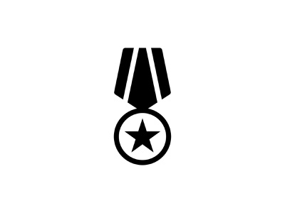 Medal Badge 🎖️👇 black glyph position icon vector art graphic design achievement prize police reward award star badge medal
