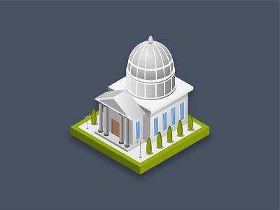 White house famous america politics building house white 3d isometric icon art graphic design illustration