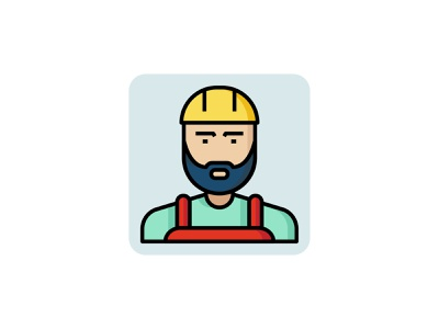 Engineer 👷👇 vector color outline filled icon art graphic design illustration engineering worker people avatar profession engineer