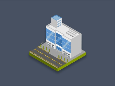 Shopping mall commercial residential residence bank office shopping mall plaza town isometric 3d building icon art graphic design illustration
