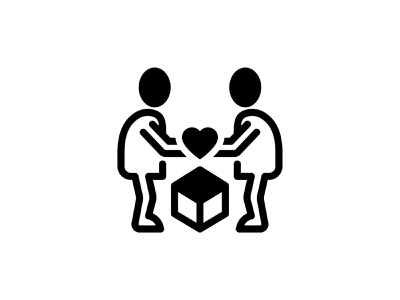 Parcel gift vector art love give package people heart gift parcel glyph icon vector art graphic illustration design