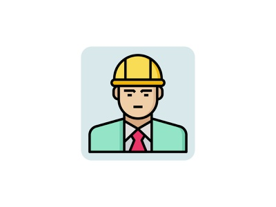 Engineer worker 👇 color outline filled vector job male man professional engineering worker engineer icon art graphic design illustration