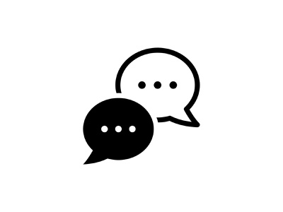 Bubbles Chatting 👇 glyph vector discuss texts communication comments chat chatting bubbles icon art graphic design illustration