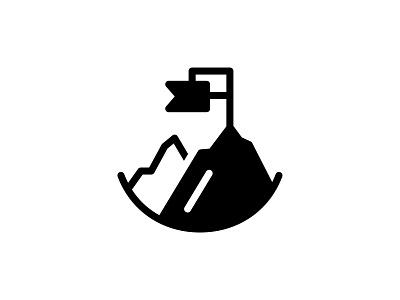 Mountain Area 👇 flag glyph park outdoor top goal location area hills mountains mountain vector icon landmark landscape art graphic design illustration