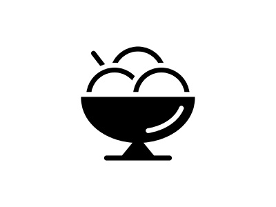 Ice cream 👇 summer black glyph icon vector eating cup sweet desert restaurant food ice cream
