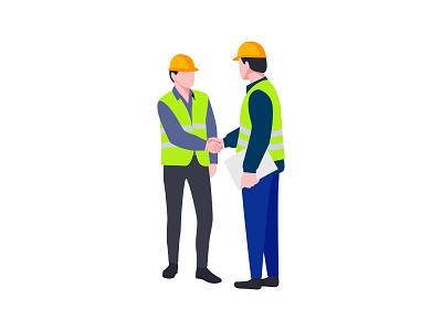Construction Engineer 👇 engineers deal blueprint architect engineer labour partner worker job construction art graphic design illustration