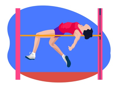 Female doing high jump 👇 competition art graphic design illustration