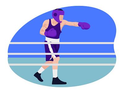 Boxing player 👇 championship art graphic design illustration