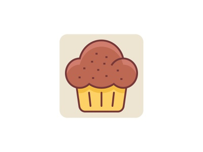 Cup Cake 👇 sweet vector color filled outline icon art graphic design illustration