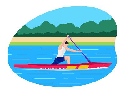 Male boating player 👇 championship art graphic design illustration
