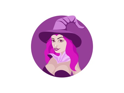 Witch 🧙♀️ hat magician color icon art graphic design illustration