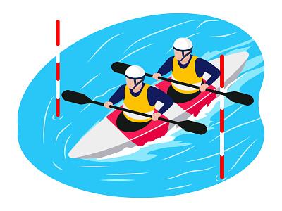 Boating team 👇 boat art graphic design illustration