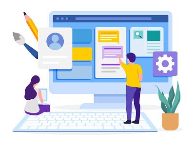 Web Template Design 👇 coder art graphic design illustration
