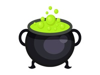 Halloween Cooking Pot