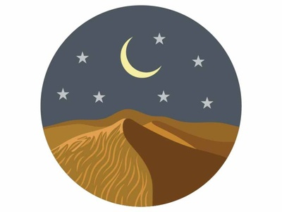 Night sky & moon stars
