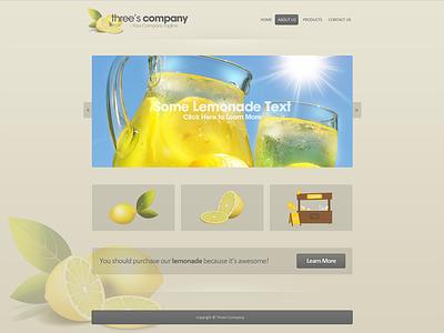 Three's Company Lemonade web design responsive minimal modern
