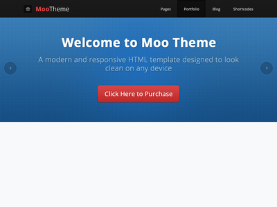 Moo Theme web design. html template responsive clean