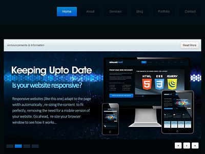 Twitter Bootstrap Responsive Homepage bootstrap web design responsive portfolio homepage