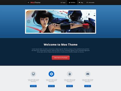 Moo Theme - Index 3 web design responsive template html template modern minimal website