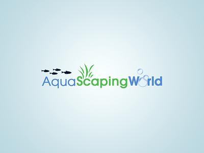 Aqua Scaping World - Logo Design logo logo design aqua