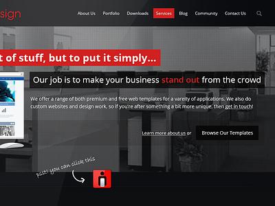 Intox Design Homepage web design website responsive wordpress html css forums business
