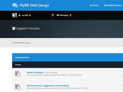 MyBBWebDesign Re-Design forum forums forum theme forum themes mybb web design website websites