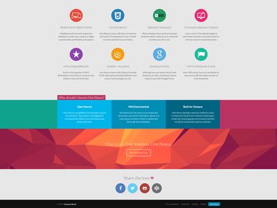 One Nexus web design flat modern elegant framework icons responsive website