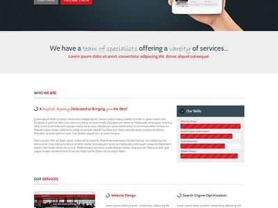 Office Box web design flat modern elegant website template theme technology