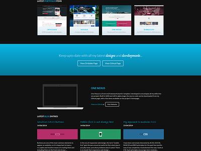 Homepage v3 web design website responsive flat dark blue portfolio
