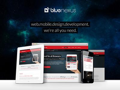 Blue Nexus Media responsive website digital agency modern creative web design