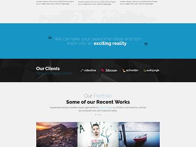 Nexus - Website Template website template modern flat html css parallax web design