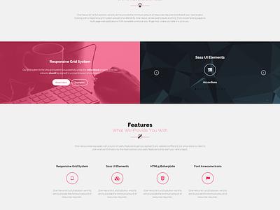 One Nexus v2 web design website modern responsive framework css icons