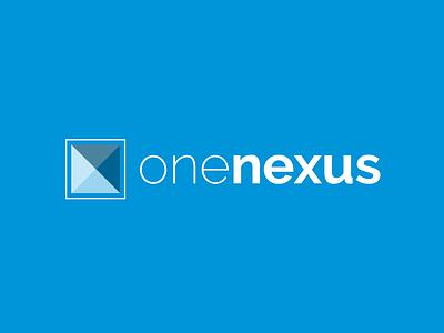 One Nexus Logo blue nexus creative ux branding brand design modern logo